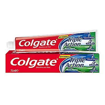 Toothpaste Triple Accion Original Mint Colgate (75 ml)