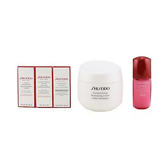Shiseido Age Defense Ritual Essential Energy Set (For All Skin Types): Moisturizing Cream 50ml + Cleansing Foam 5ml + Softener Enriched 7ml + Ultimune Concentrate 10ml + Eye Definer 5ml 5pcs+1pouch