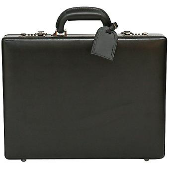Luxury Leather Unisex Slim Executive Case Attache Briefcase Business Bag With Tablet Pouch