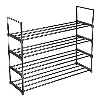 Yescom 4 Tier Shoe Rack Shelf Metal Shoe Tower 20 Pairs Shoe Storage Organizer Unit Entryway Shelf Stackable Cabinet