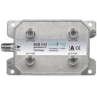 Axing BAB 4-02 Cable TV splitter 4-way 5 - 40 Mhz, 40 - 470 MHz, 470 - 862 MHz, 862 - 1006 MHz
