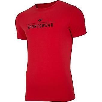 4F TSM005 NOSH4TSM005CZERWONY universal todos os anos masculinos t-shirt