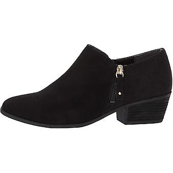 Dr. Scholl's Shoes Women's Brief Ankle Boot, Black Microfiber Suede, 10 M US