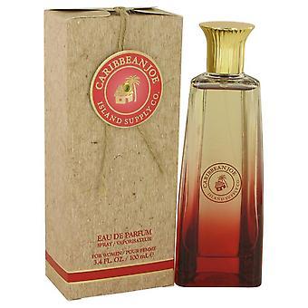 Caribbean Joe Island Supply Eau De Parfum Spray By Caribbean Joe 3.4 oz Eau De Parfum Spray