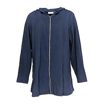 Denim & Co. Women's Jacket c/ Side Seam Pockets Navy Blue A300763