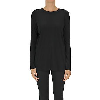 Norma Kamali Ezgl408010 Women's Black Polyester T-shirt