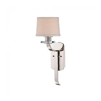 Sutton Wall Lamp, Imperial Silver, 1 Bulb