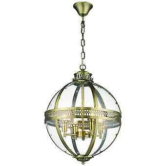 Coventry H165 4-light Antique Brass Pendant