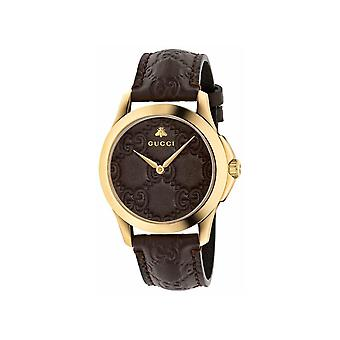 Gucci YA1264035 G-Timeless Brown GG Dial Men's Watch