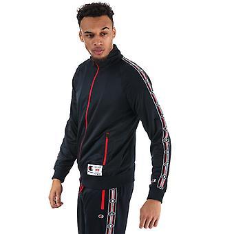 Men's Champion Comfort Tech Poly Zip Jacket in Blue