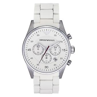 Armani Classic White Mens Chronograph Watch Ar5859