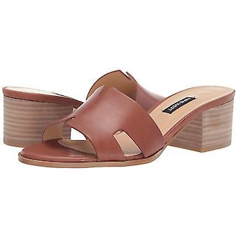 Negen West Womens Aubrey lederen open teen casual mule sandalen