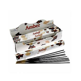 Stamford Amber Incense Sticks (Box of 6 Packs)