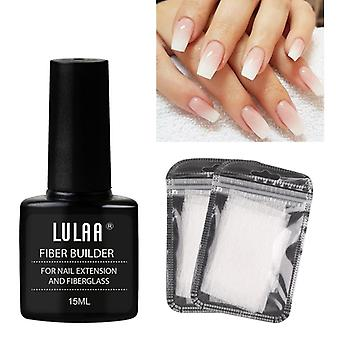 1 Set Nail Extension Glue + Extension Fiberglass (fiber Glass Silk Nails Wrap Stickers Nail Form)