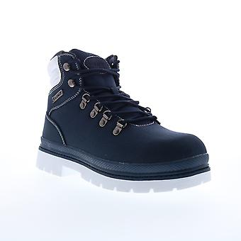Lugz Grotto Ripstop  Mens Blue Canvas Lace Up Casual Dress Boots
