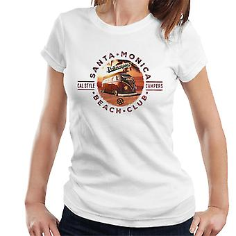 Volkswagen Santa Monica Beach Club Campers kvinnor ' s T-shirt