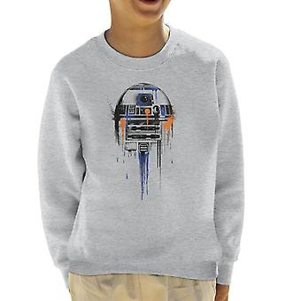 Star Wars R2D2 Paint Art Kid's Sweatshirt