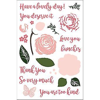 LDRS Kreativ Kjærlighet I Blomst Klare Frimerker