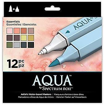 Spectrum Noir Spectrum Aqua Marker Essentials (12pk) (SPECN-AQ12-ESS)