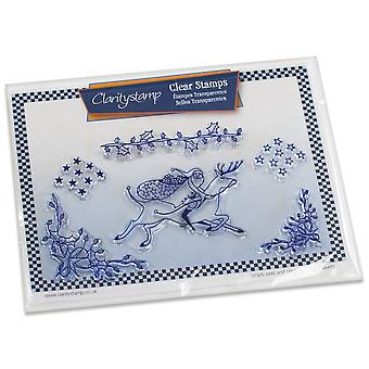 Claritystamp Santa & Stars Clear Timbres & Masque