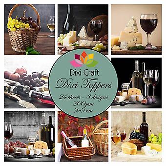 Dixi Craft Dixie Toppers Wine 9x9cm