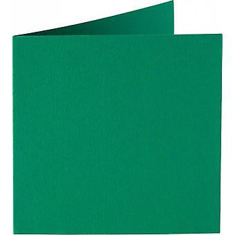 Papicolor 6X Tarjeta Doble 132X132mm Verde Oscuro