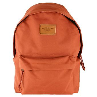 Watershed Union Leather Badge Backpack - Rust Red