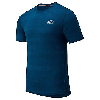 New Balance Mens Q Speed Fuel Jacquard Reflective Short Sleeve T-Shirt