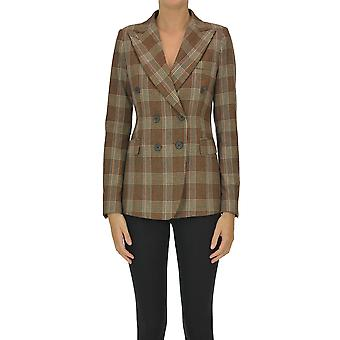 Kiltie Ezgl187029 Kvinder's Brown Wool Blazer