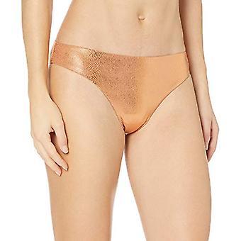 Bikini Lab Naiset&s Cinched Takaisin Hipster Pant Bikini Bottom, Taupe, S