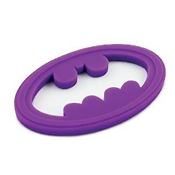 Silicone Teether - Bumkins - DC Comics Batman Purple