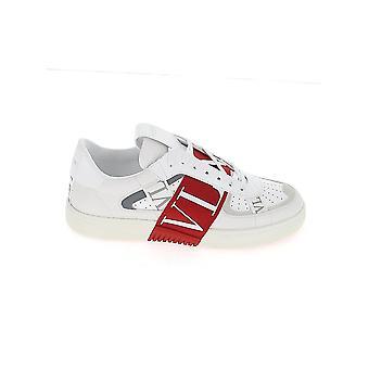Valentino Garavani Uy2s0c58wrqey6 Heren's Wit/rood Leren Sneakers