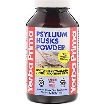 Yerba Prima, Psyllium Husks Powder, 12 oz (340 g)