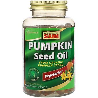 Health From The Sun, Pumpkin Seed Oil, 90 Vegetarian Softgels