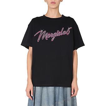 Mm6 Maison Margiela S52gc0169s23588900 Dames's Zwart Katoen T-shirt