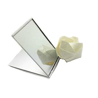 Pocket Mirror Cosmetic - Rectangle Foldable Silver Makeup Mirrors