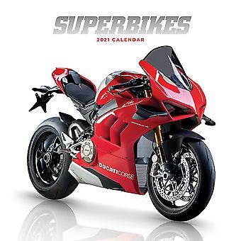 Superbikes Calendar 2021 Official Wall Calendar 2021, 12 Months, Stitch Binding, English Version.