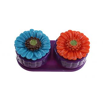 Lens Box Unisex with Purple Flowers