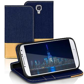 Samsung Galaxy S4 Mini Phone Mobile Protection TPU Magnet Denim Mobile Shell Shockproof