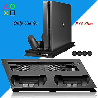 Ps4 Slim Vertical Stand With Cooler Cooling Fan Controller,charging Dock Play