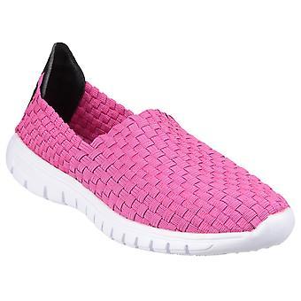 Sapatos de jangada feminino Divaz rosa 22115-35769