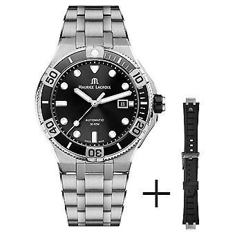 Maurice Lacroix Aikon Venturer 43mm Automatische Roestvrijstalen Armband Black Dial AI6058-SS002-330-2 Horloge
