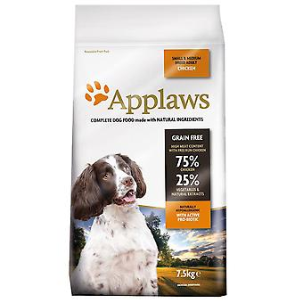 1 x 7,5 kg Applaws Small Medium Adult Dog Dry Food Chicken Meat Natuurlijke Pet Snack