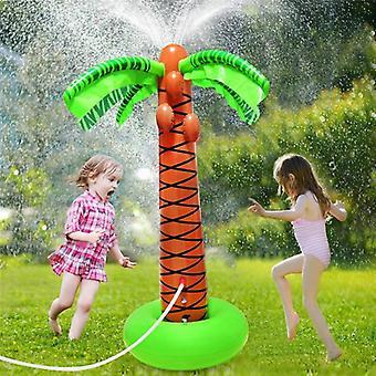 Agua rociador-inflable palmera de coco