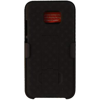 Verizon Kickstand Shell Holster Combo Case for Samsung Galaxy S7 - Black