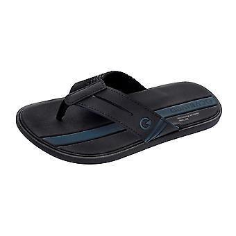 Mens Cartago Sandals Cartagena tongs / plage de diapositives - noir
