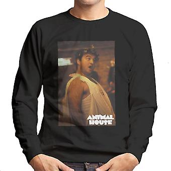 Animal House John Bluto Blutarsky Dressed In Toga Men's Sweatshirt
