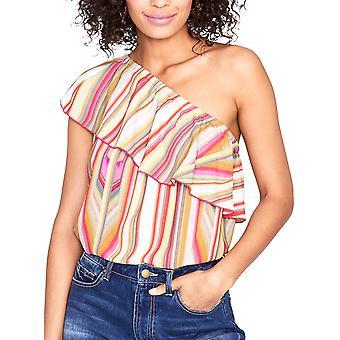 RACHEL Rachel Roy | Striped One-Shoulder Blouse