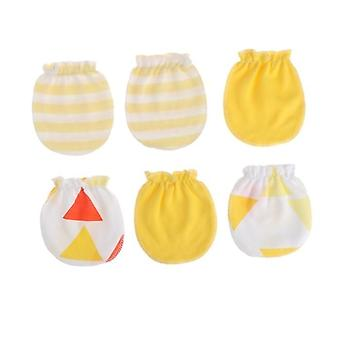 Fashion Baby Anti Scratching Gloves Newborn Protection Face Cotton Mittens Infant Soft