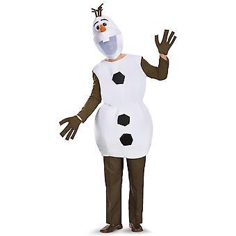 OLAF Deluxe Disney Frozen Snow Man inanimate lumi ukko aikuisten miesten puku XL